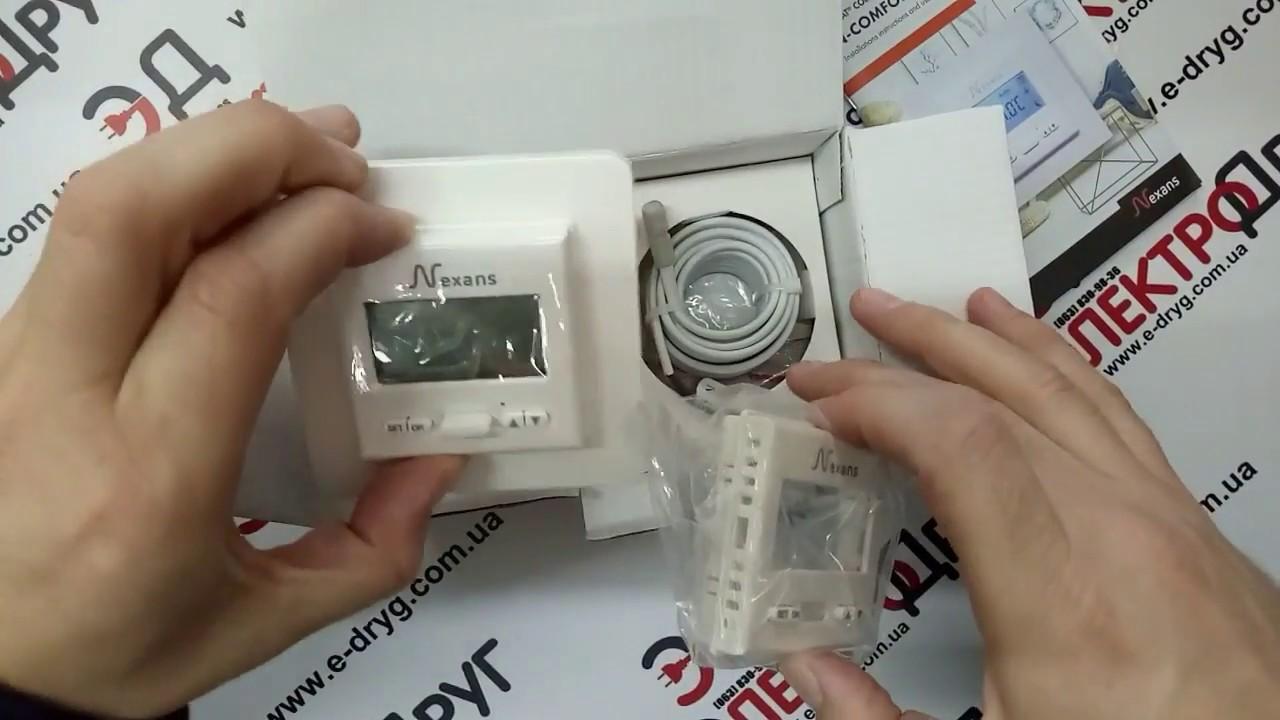 Терморегулятор программируемый Nexans N-comfort TD | Обзор, подключение, настройки