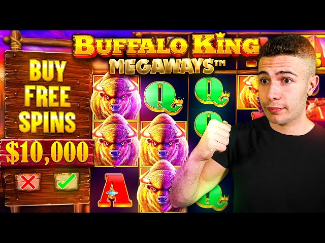 DOING BIG $10,000 BONUS BUYS ON BUFFALO KING MEGAWAYS ft. @Foss 🐺