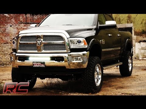 Rough Country Dodge Ram Light Bar Hidden Bumper Mounts Youtube