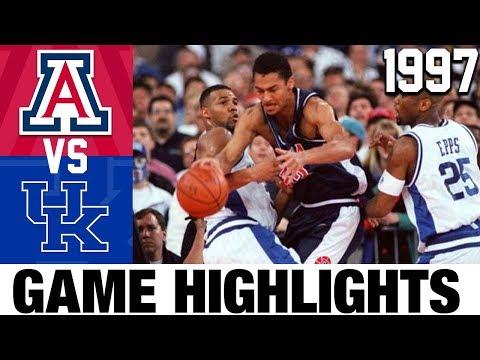 Arizona vs Kentucky | 1997 NCAAM Basketball Championship Highlights