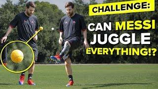 LIONEL MESSI JUGGLING CHALLENGE | testing Messi