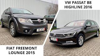 Семейный FIAT FREEMONT и стильный PASSAT HIGHLINE из Германии /// Обзор авто