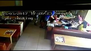 Spur releases CCTV footage showing moment man aggressively grabbed woman