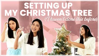 SETTING UP MY CHRISTMAS TREE (I HAVEN'T DONE THIS BEFORE) | JAMIE CHUA