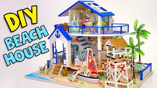 DIY Miniature Beach House By The Sea🏝