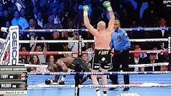 KO Deontay Wilder - Tyson Fury Round 3 KO walka fight boxing boks