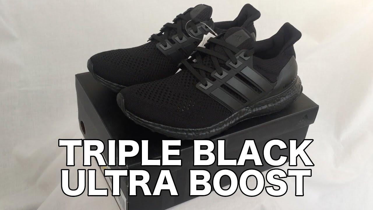 714a66015 Adidas Ultra Boost  TRIPLE BLACK