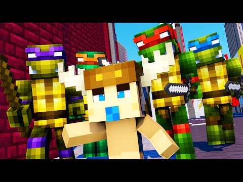 Minecraft - WHO'S YOUR DADDY - BABY MEETS TEENAGE MUTANT NINJA TURTLES!