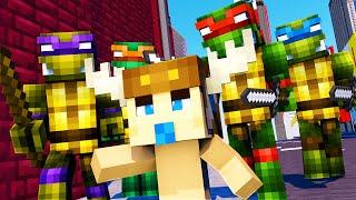 Minecraft - WHO'S YOUR DADDY - NINJA TURTLES! w/ MooseCraft (Minecraft Kids Roleplay)