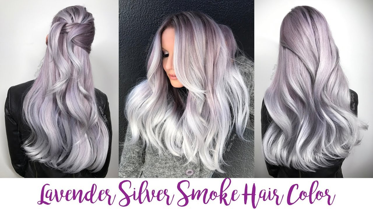 Lavender Silver Smoke Hair Color Youtube
