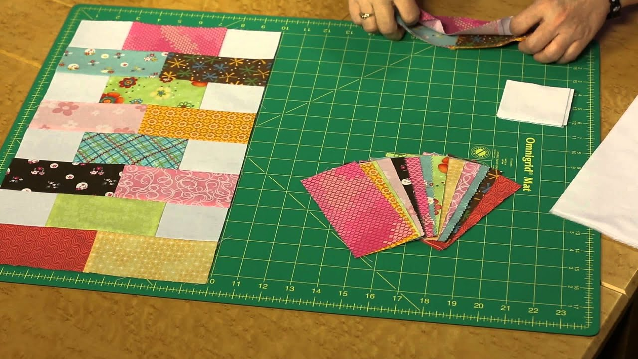 Quilting Quickly Baby Bricks Baby Quilt Pattern Youtube