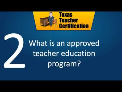 Texas Teacher Certification Requirements - YouTube