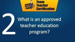 Texas Teacher Certification Requirements