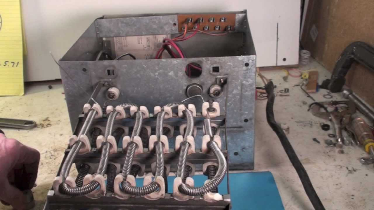 How to restring the electric furnace element - YouTube
