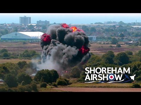 Shoreham Air Show, England - Plane Crash
