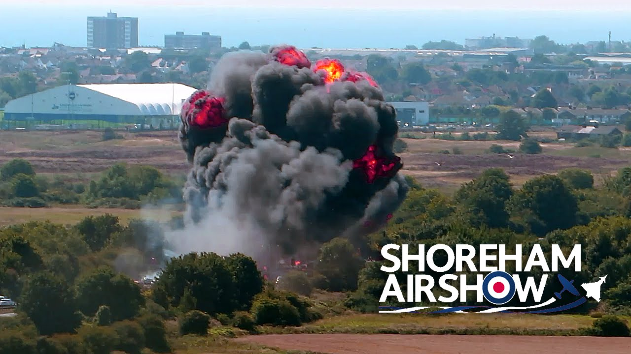 Shoreham Air Show  England - Plane Crash