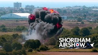 Shoreham Air Show, England - Plane Crash(A Hawker Hunter plane has crashed at Shoreham Air show in West Sussex, England. 11 people killed. Pilot survives. Jukin Media Verified (Original) * For ..., 2015-08-22T14:09:06.000Z)