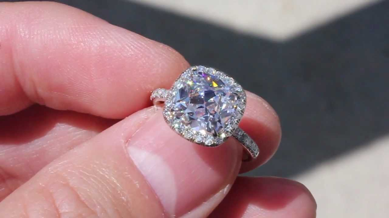 HD] 2.81ct FSI1 August Vintage Cushion in a Victor Canera Setting ...