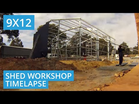 9m X 12m X 3.8m Workshop/Garage Shed Build in Bedfordale, WA 6112