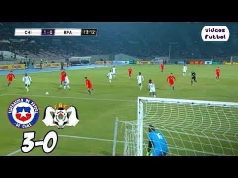 Chile vs Burkina Faso 3-0 Resumen Completo y Goles Amistoso Internacional