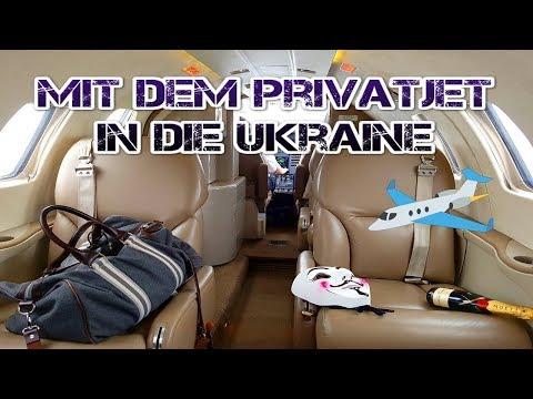 MIT DEM PRIVATJET IN DIE UKRAINE ✈️💸