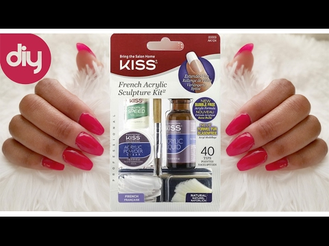 Diy kiss acrylic nail kit tutorial coffin nails youtube youtube premium solutioingenieria Gallery