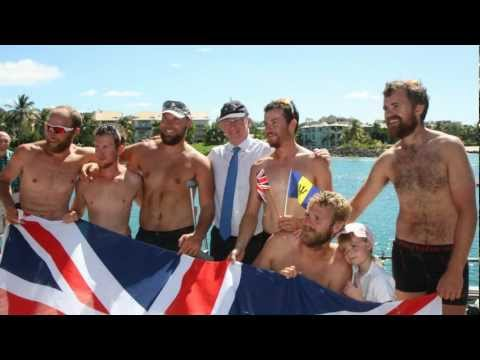 British High Commission welcomes Row2Recovery Team on their arrival to Barbados