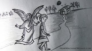 How To Draw A Guardian Angel Protecting You Kids Drawing Youtube