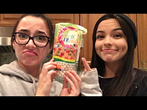 Making Bubble Tea - Merrell Twins