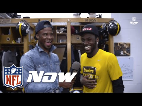 Ike Taylor Tours Steelers Locker Room | Mike Vick, Antonio Brown, James Harrison | NFL