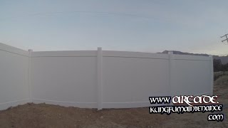 Vinyl Fence Posts Three Main Types Purposes How To Strengthen Install Kung Fu Maintenance Video