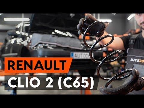 Как заменить пружину передней стойки амортизатора RENAULT CLIO 2 (C65) [ВИДЕОУРОК AUTODOC]