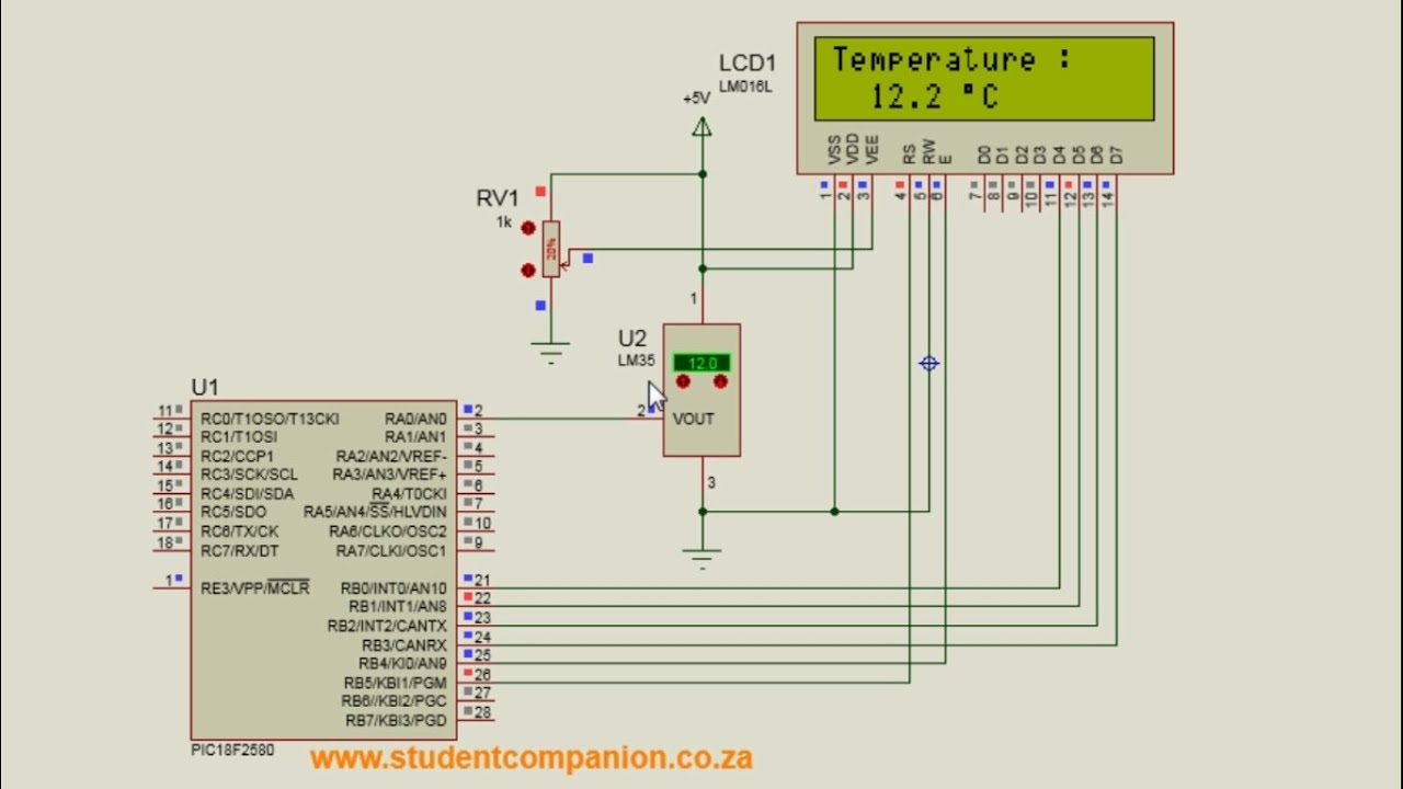 Digital Thermometer with PIC Microcontroller & LM35 | StudentCompanion