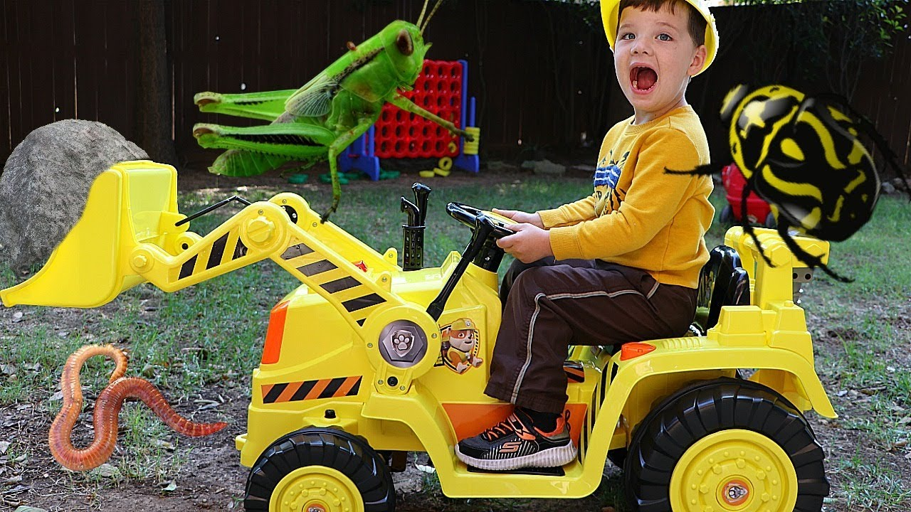 Nickelodeon Paw Patrol's Rubbles Digger 6 volt Ride On Toy By Kid Trax Ages 3