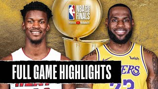 Los Angeles Lakers vs Miami Heat | October 2, 2020