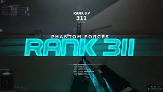RANKING UP TO RANK 311 in PHANTOM FORCES!! (roblox)