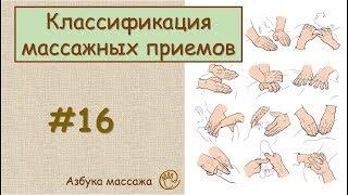 Классический массаж: классификация массажных приемов | Урок 16 | Уроки массажа