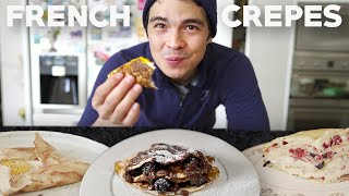 How To Make Easy Crepes 3 Ways (Savoury, Sweet and Crepe Cake)