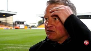 Chris Wilder's Port Vale reaction