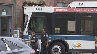 MTA Bus Crashes Into Apartment Building