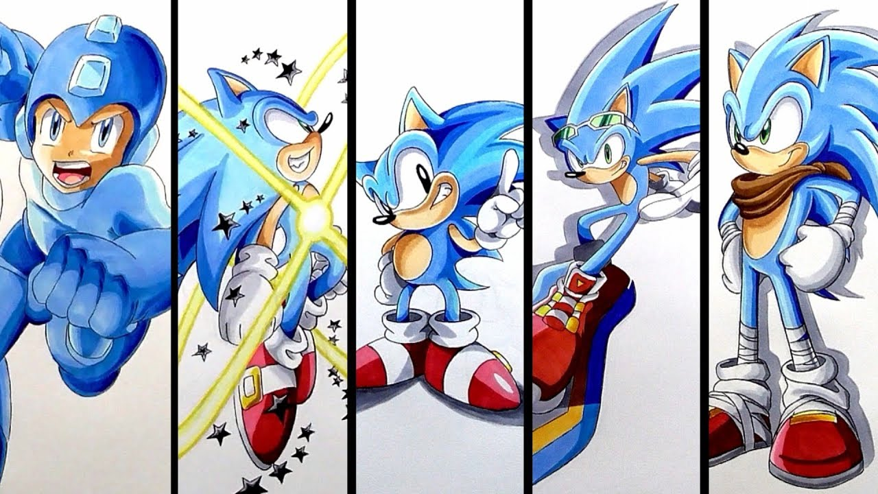 This is a photo of Soft Drawing Sonic Characters