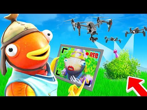 Je TRICHE avec des DRONES pour la TROUVER et GAGNER des V-BUCKS ! Fortnite