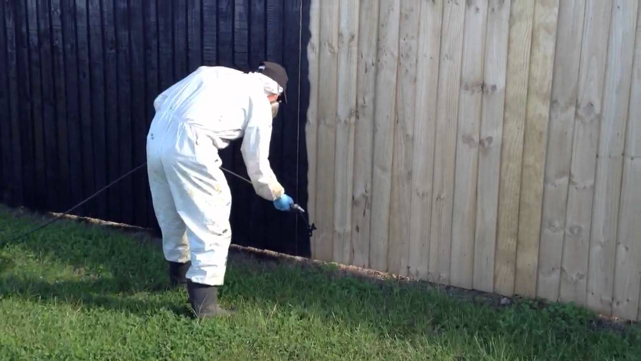 exterior timber fence staining youtube