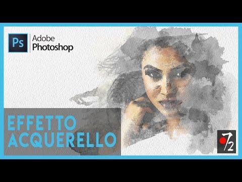 Adobe Photoshop CC - Tutorial Effetto Acquerello, download pennelli gratis [ITA], Studio72 thumbnail