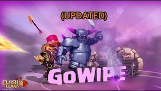 Th8 Gowipe Attack Strategy 2017   Clash Of Clans   Updated Gowipe Attack 2017