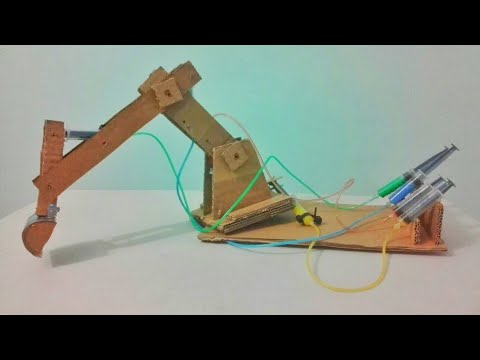 How to make hydraulic jcb from cardboard. Diy at home. #DIY