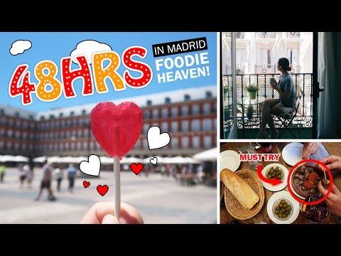 EUROPE TRAVEL VLOG #5: Madrid Part 1/2 - Foodie Heaven: Eating Jamon, Snails & Intestines