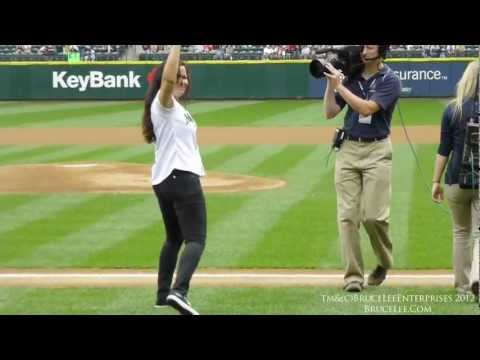 Shannon Lee Throws Out The First Pitch for Asian Heritage Day Seattle Mariners