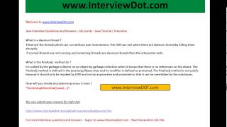 what is daemon thread what is finalize method java tutorial interview