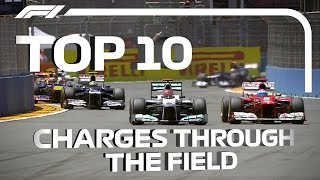 F1: Top 10 Charges Through The Field